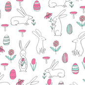 easter bunny // spring easter egg cute nursery
