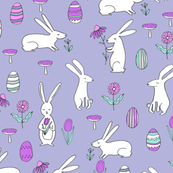 easter bunnies // rabbit spring purple bunny