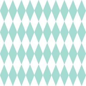 harlequin diamonds - mint and white