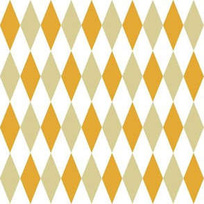 retro kitchen harlequin diamonds - tan and mustard