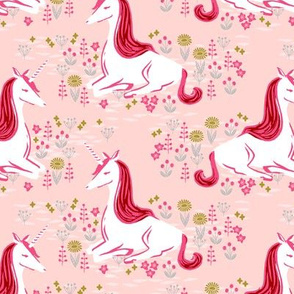 unicorn // pastel girly pink unicorns