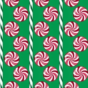 Peppermint Candy Stripes Green Red