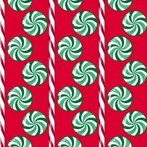 WinterGreen Candy Stripes Red Green
