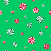 Christmas Peppermint and Wintergreen Candies Green Red White