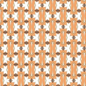 Modern Tribal in Peach and White