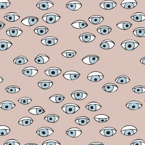 Look at me eyes illustration ink drawing cool eye balls print