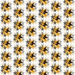 BLACK AND GOLD STAR PRINT