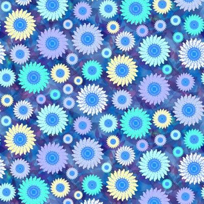 Zillion Zinnias, Blue