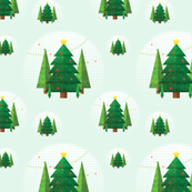 Abstract Geometric Christmas Trees