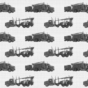 Log Trucks B & W