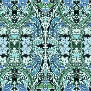 Blue Flower Victorian Twister