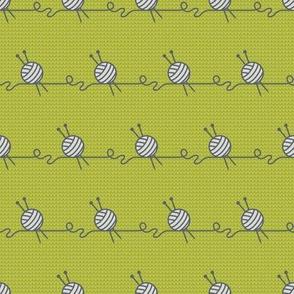 Wool Ball Stripe (BlueGreen knit coordinate)