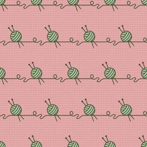 Wool Balls Stripe (soft knit coordinate)