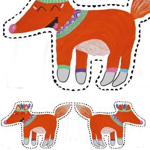 indian fox pillow