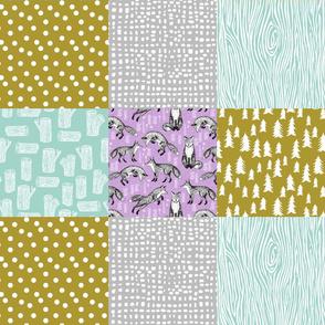 quilt // woodland cheater quilt wholecloth baby crib bedding crib sheet kids nursery baby design