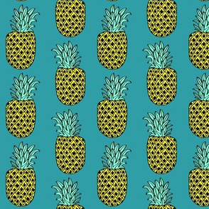 pineapple // teal aqua tropical exotic summer fruit fruits