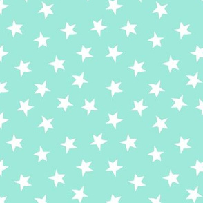 stars // bright mint cute kids baby nursery pastel girls star illustration
