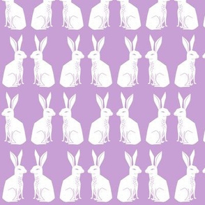 rabbit // lilac lavender pastel purple block print nursery baby kids