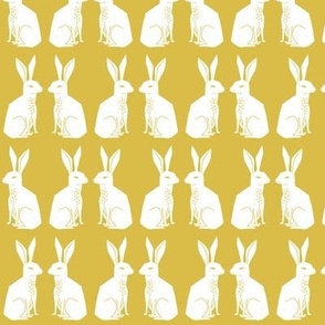 rabbit // mustard block print kids rabbits bunny
