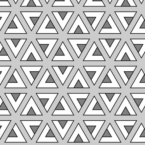 teepee triangle twirl : grey