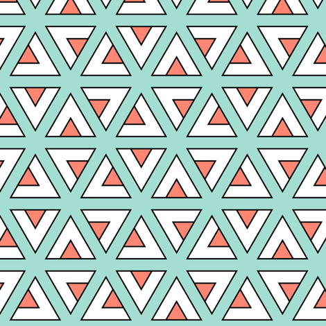 teepee triangle twirl : mint + coral