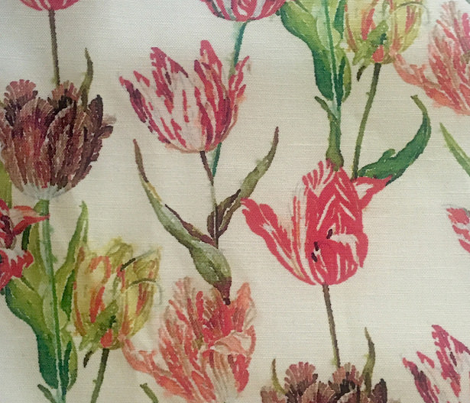 Antique watercolor tulips