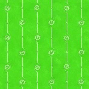 Bright Green Funky Stripes