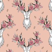 Deer Head in Peach