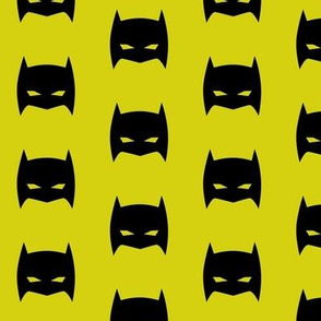 Superhero Bat Mask Citron