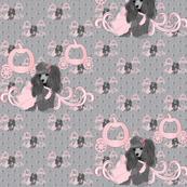 Poodle Cinderella Princess - Pink & Grey