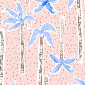 Tropicana Palms (blue/pink)