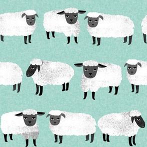 sleep // nursery pastel mint sheep farm animals