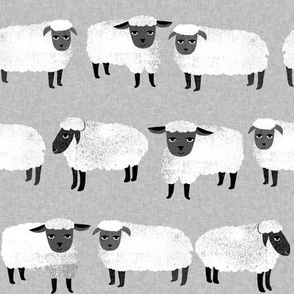 sheep // kids grey gender neutral farm animals