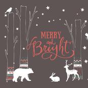 Woodland Animals Holiday Print