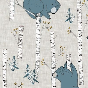 Birch Bears (blue) REGULAR