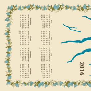 Finger Lakes Calendar in Cream