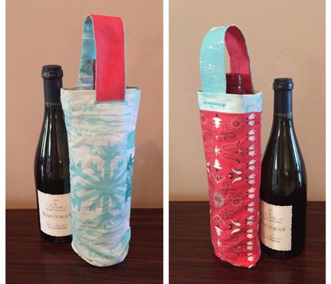 Christmas Bandana Wine Tote