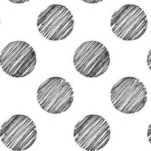 Hand Drawn - Polka Dot - Large