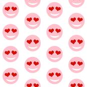 heart eyes emoji pink smiley face love valentine