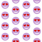 heart eyes emoji purple valentines day