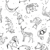 constellations // origami constellations geometric kids animals nursery baby stars