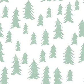 woodland // trees forest mint nursery cute kids design
