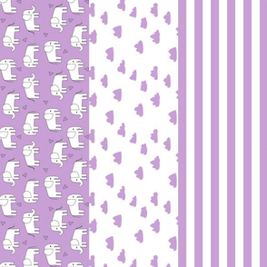 elephant quilt // cheater quilt wholecloth baby blankie baby blanket sweet purple little girls nursery crib