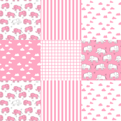 elephant quilt // wholecloth crib quilt cheater quilt crib quilt crib blanket pink elephant girl baby girl nursery sweet little girls baby shower gift