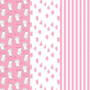 elephant quilt // baby girl elephant stripes girls baby nursery crib blanket crib quilt sweet baby girl elephant