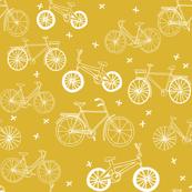 bicycles // bikes mustard yellow bike summer bright bold summer happy yellow print