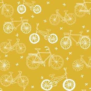 bicycles // bikes mustard yellow bike summer bright bold summer happy yellow print