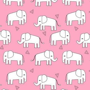 elephant // pink elephants baby girl baby girls nursery sweet pink elephants