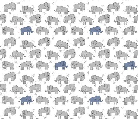 Elephant grey and blue elephants little boy baby boy for Boy nursery fabric