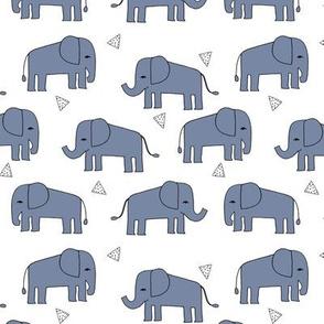 elephant // nursery baby boy blue